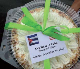 Key West, Havana flight makes history.