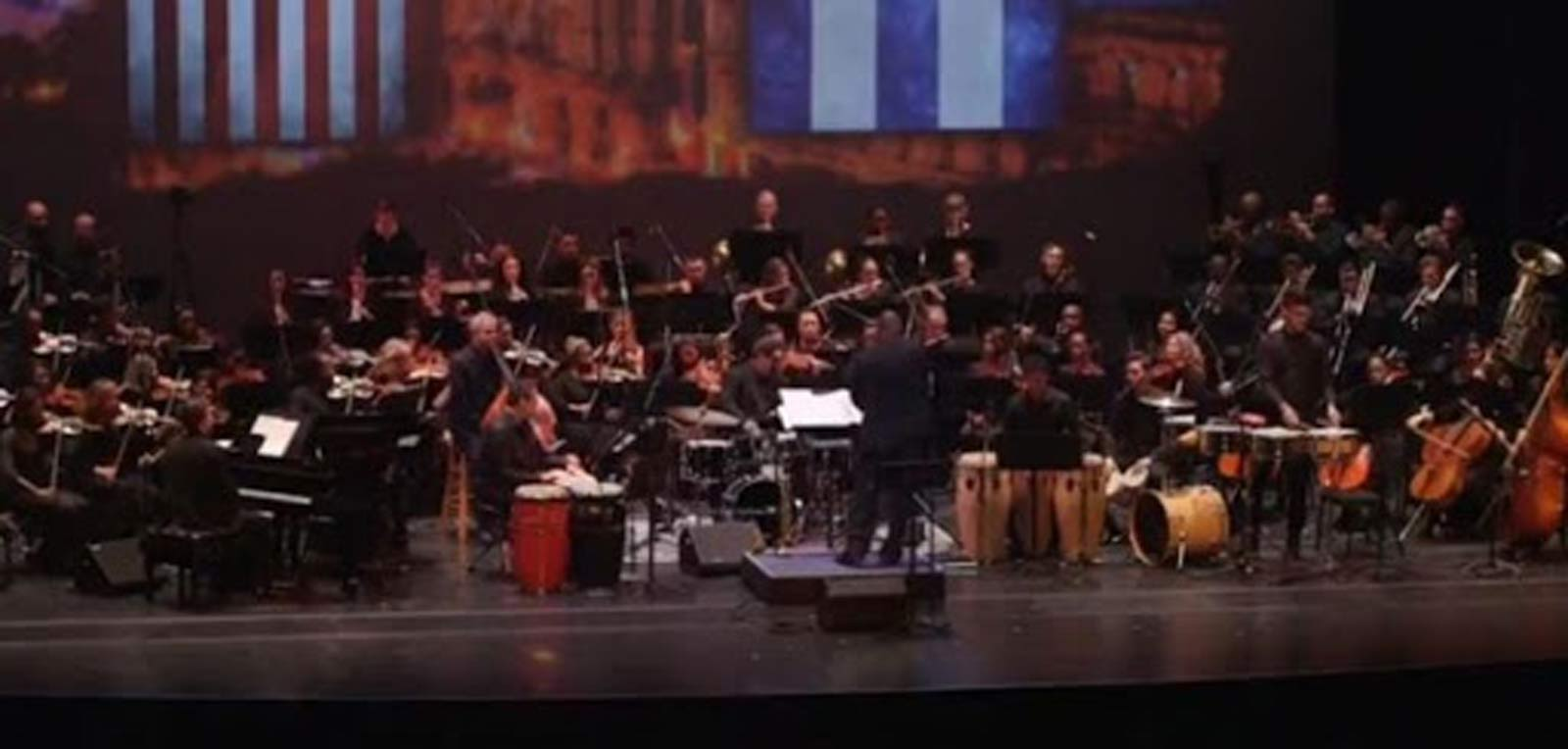 Talent gathered in a Concert for Cuba