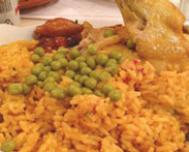Arroz con pollo, a traditional Cuban rice dish with chicken