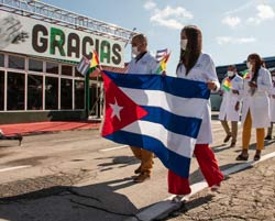 Formally registered to the Nobel Peace Prize Cuban medical brigade
