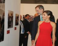 Spanish royal couple open exhibition by Prensa Latina and EFE